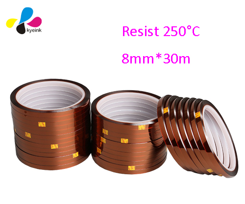 Heat Resistance Tape 5mm, 8mm, 10mm..30m/roll