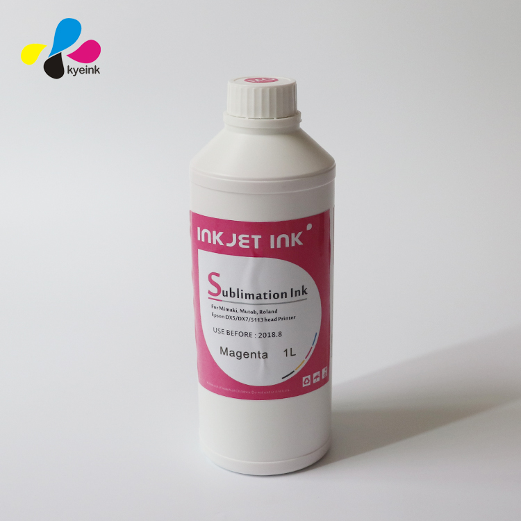Dye sublimation ink (fluorescent red and fluorescent yellow)for digital printing on textile